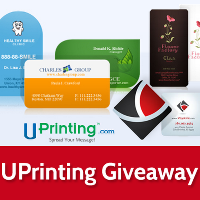 UPrinting Giveaway: 3 Sets of Die Cut Business Cards