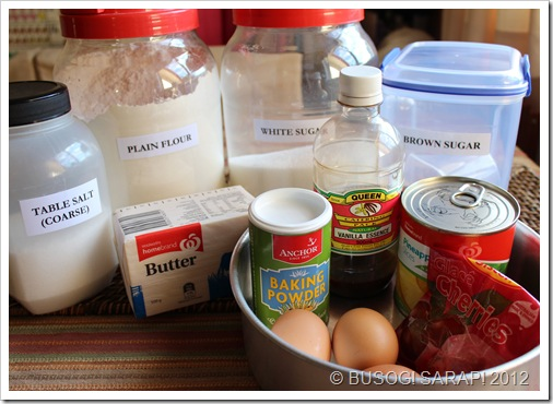 PINEAPPLE UPSIDE DOWN CAKE INGREDIENTS© BUSOG! SARAP! 2012