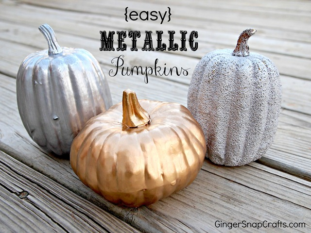 easy metallic pumpkin tutorial