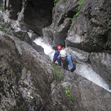 15m滝の登攀