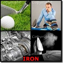 IRON- 4 Pics 1 Word Answers 3 Letters