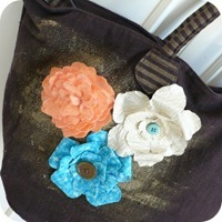 34-cafe-creativo - big shot - borsa fiori feltro stoffa