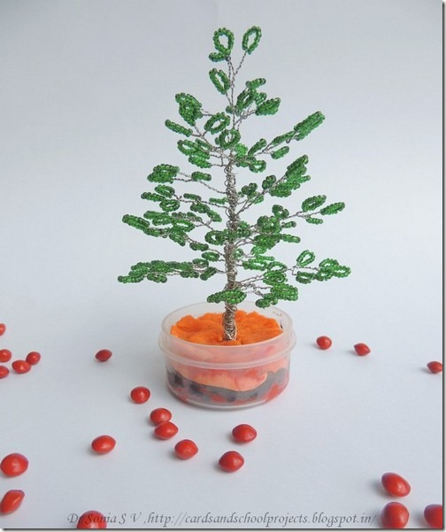 Beaded tree tutorial 1