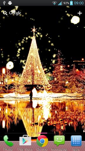 聖誕煙花夜動態桌布