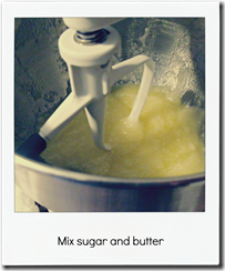 mix sugar and butter