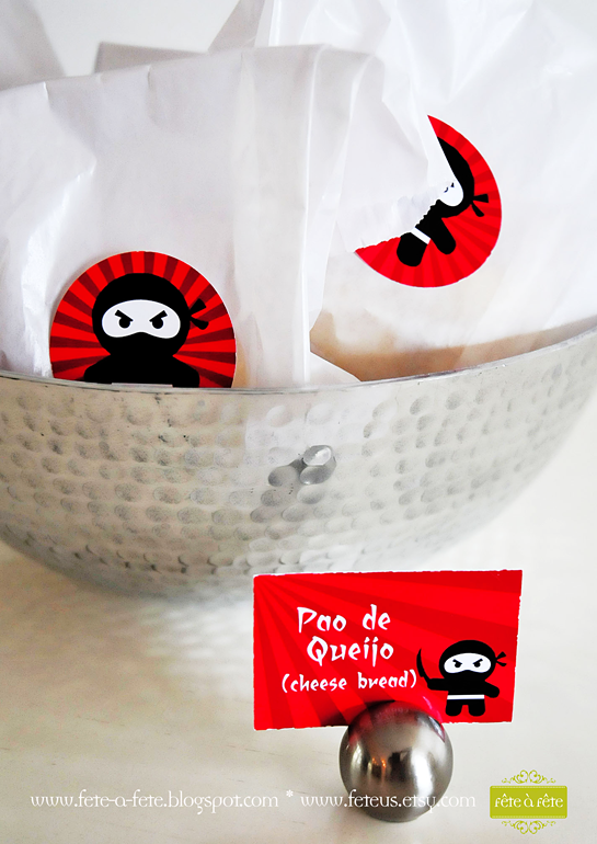 pão-de-queijo---Ninja-Party-by-Fete
