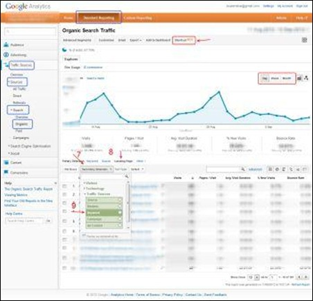 Organic Search Traffic - Google Analytics reporting SEO easy and like experts