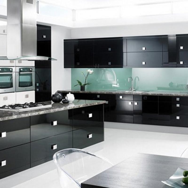 15 Modelos De Cocinas Super Brillosas En Colores Negro Y Gris Idecorar - Cocinas-en-gris