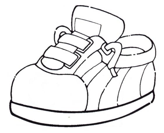 SPORT SHOES COLORING PAGES