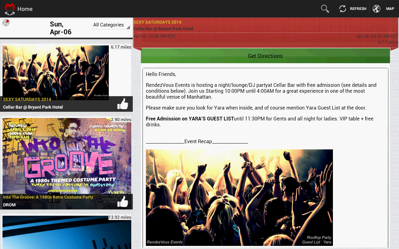 Majikal - find local events - screenshot