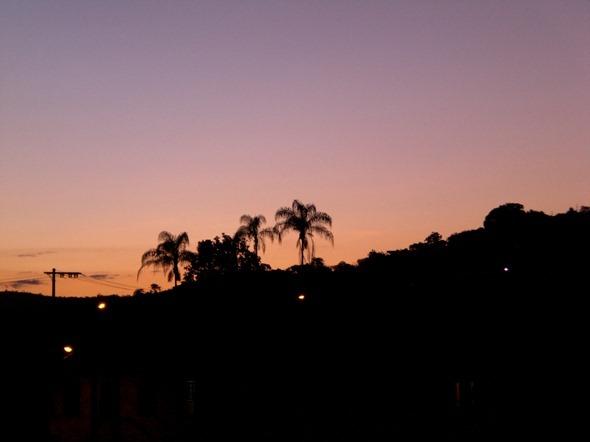 Pôr do sol em Serro