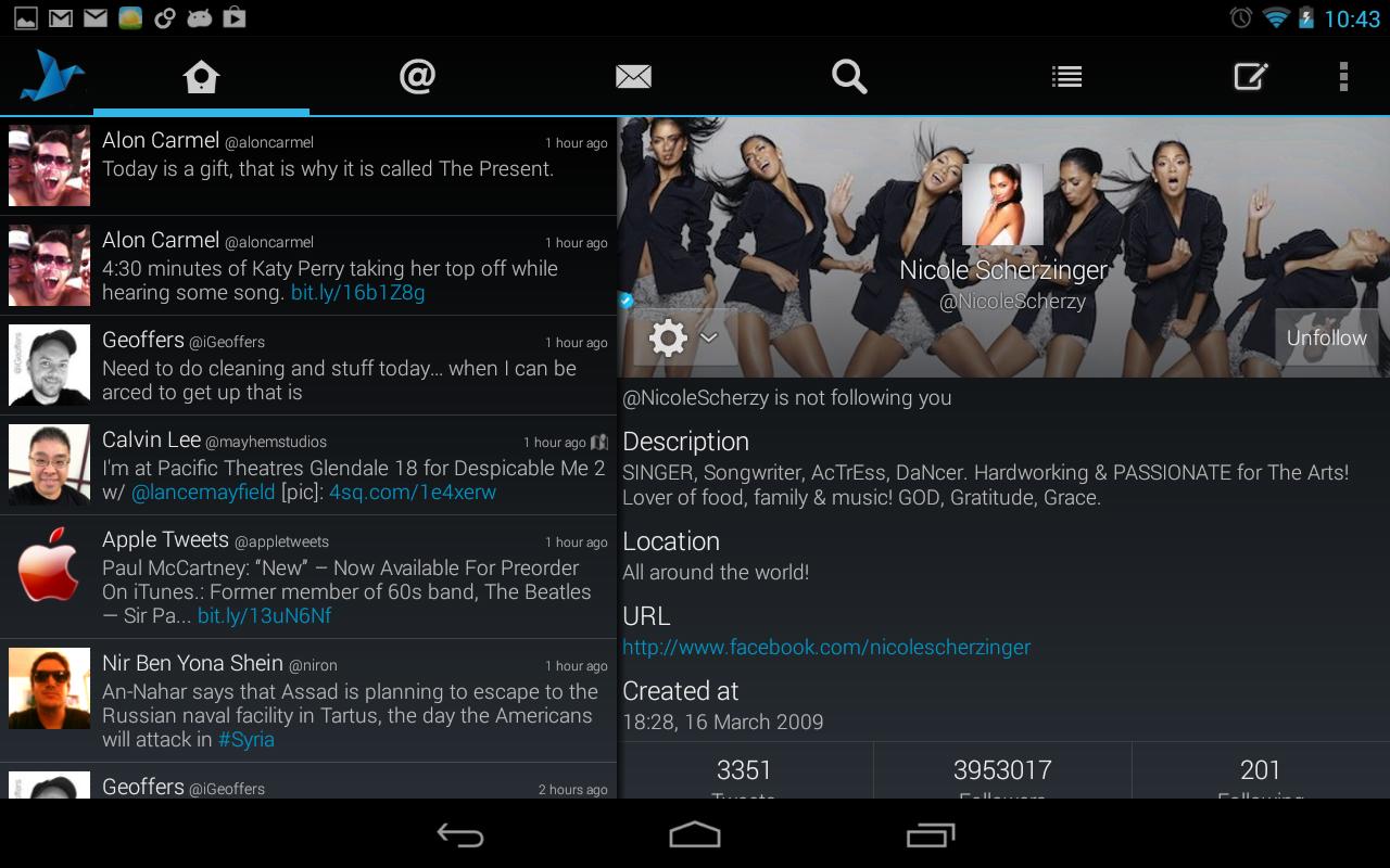 Tweetings for Twitter - screenshot