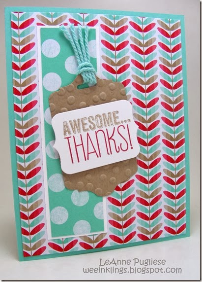 LeAnne Pugliese WeeInklings Stampin Up Awesome Thanks
