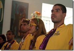 Homenagem aos atletas paralímpicos