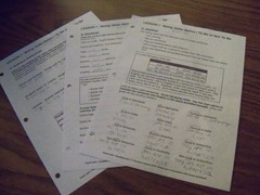 Visual Latin Worksheets