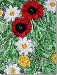 irish crochet poppy top how to 3