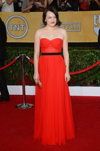 Elisabeth Moss attends the 20th Annual Screen Actors Guild Awards
