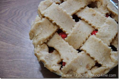 pretty playdough apple pie with lattice top