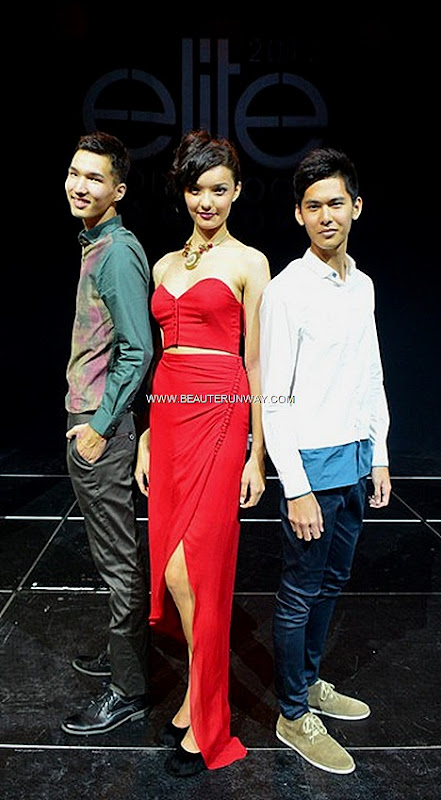 ELITE MODEL LOOK SINGAPORE 2012 WINNER LENA STEWEN VOLKSWAGEN EML SHANGHAI FINALS   BERIK KAZYMZHANOV DAVID HONG MALE WINNERS Elite Milan UK Upfront Models Thai Airways Resort World Sentosa Hard Rock Hotel W Fullerton Toni & Guy