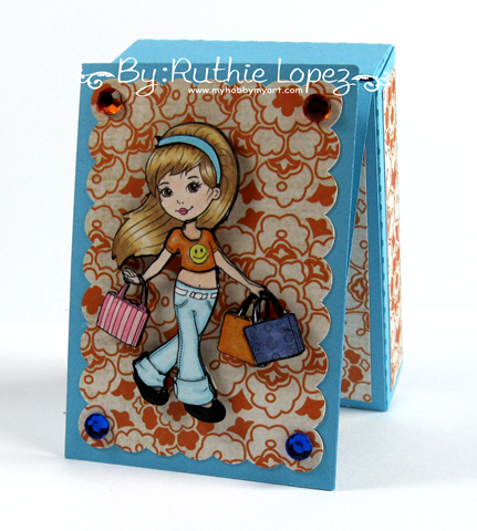 The Paper Shelter - Shopping girl - easel card box - Silhouette Cameo - Ruthie Lopez - My Hobby My Art 2