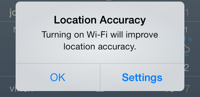 iOS 7 Location Accuracy prompt