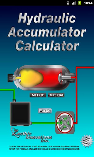 Hydraulic Accumulator Calc