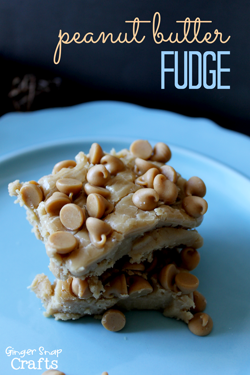Peanute Butter Fudge #gingersnapcrafts #recipe #fudge