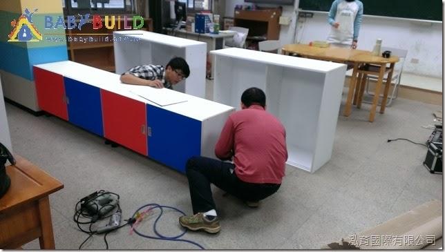教室白板櫃施工組裝