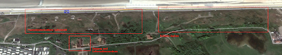 LP: Atlantikwall - Stp Tirpitz (Museum Raversyde) - Geländeüberblick von Google Earth