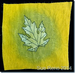 Sue Reno, Silver Maple embroidery