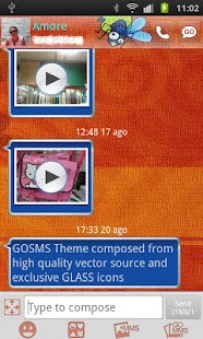 GO SMS Gekko Theme by Gnokkia - screenshot thumbnail