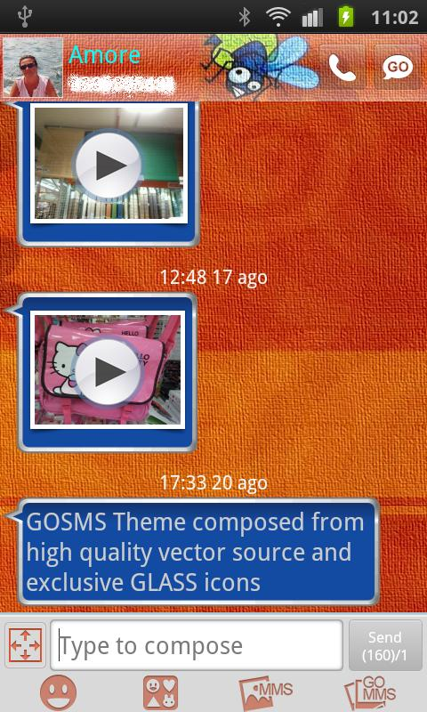 GO SMS Gekko Theme by Gnokkia - screenshot