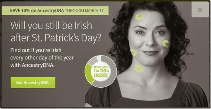 Melanie Nelson模型为祖先's St. Patrick's Day promo