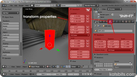 blender transform-properties-object-mode