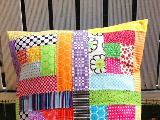 Scrappy Cushion Makeover