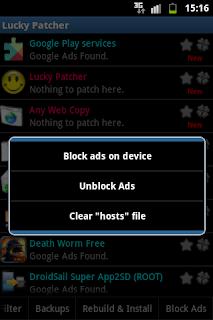 menghilangkan iklan yang muncul di android