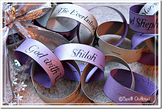 Names of Jesus Printable Advent Chain