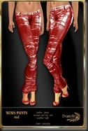 DANIELLE Mims Pants Red'