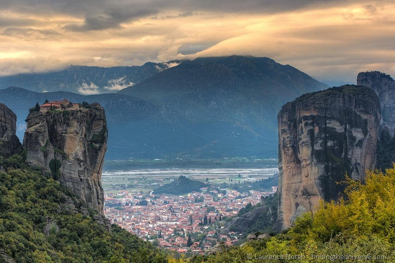 monastery on rock meteora greece
