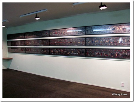 Half of the reproduction of the Bayeux Tapestry in Geraldine. It took 20 years of passion and dedication to complete.