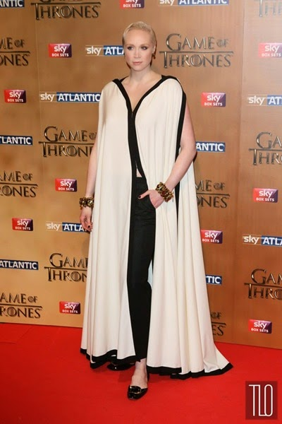 Gwendoline Christie attends the Game of Thrones Season 5 World Premiere in London