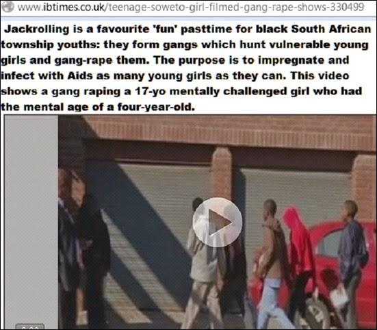 JackrollingBlackTownshipYouthsSouthAfricaReportUKvideo