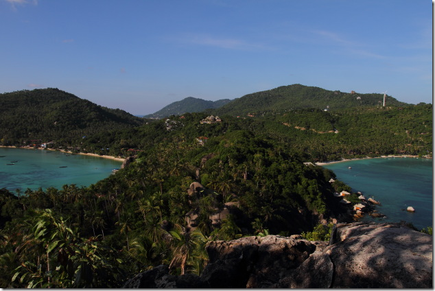 View from the John Suwan view point of Koh Tao