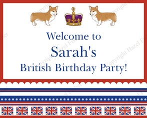 SI002 etsy 1 rule britannia british printable party welcome sign