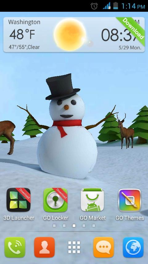 Christmas 3D Snowman lwp - screenshot