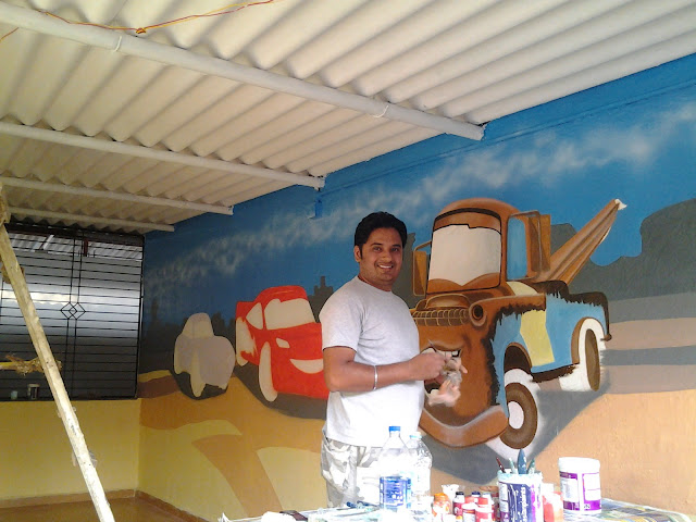 PRE SCHOOL CLASSROOM CARTOON WALL PAINTING / DADAR /JUHU/ SANTACRUZ