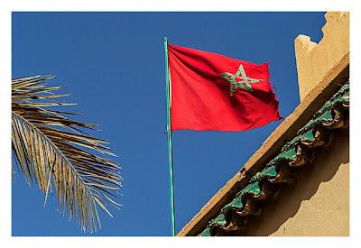 Fahne von Marokko