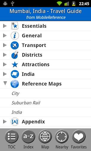 Mumbai India - Guide Map