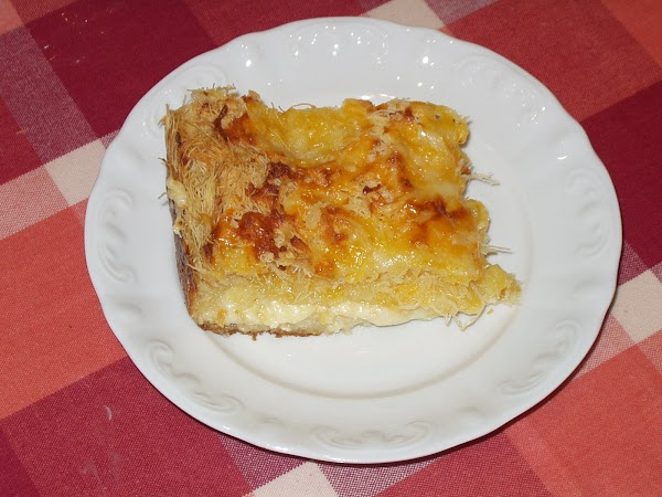 Cheese Souffle with Kataifi Pastry