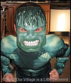 Boy Two as Hulk